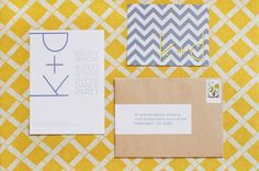 invitations : gorgeous simple invitations inspiration grey and yellow