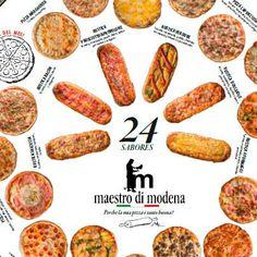 24 gustos de #pizzas Maestrodimodena  http://www.maestrodimodena.com