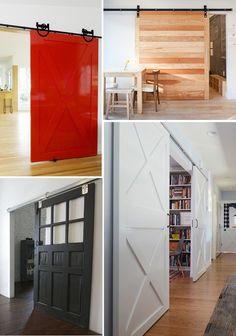 room divider ideas- barn door on sliders