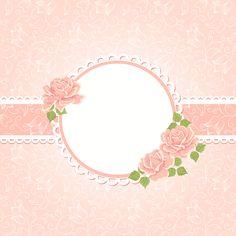 矢量复古浪漫花卉边框背景