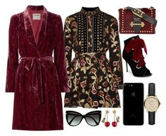 Red, Black & Gold by carolineas on Polyvore featuring polyvore, fashion, style, Dodo Bar Or, L'Agence, Giuseppe Zanotti, Prada, Gucci, Burberry, Tom Ford and clothing
