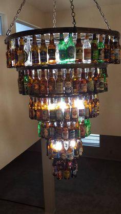 Six Tier Beer Bottle Chandelier