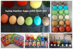 how to dye Easter eggs with kool-aid, kool-aid, Easter eggs, Easter egg decorating