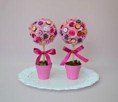 festa jardim encantado com marshmallow flor - Pesquisa Google