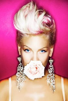 pink with short hair | For this look, start with dirty hair. If your hair is really clean ...