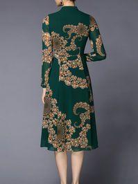 Printed Chiffon Midi Dress Striped Midi Dress, Silk Midi Dress, Long Sleeve Midi Dress, Chiffon Dresses With Sleeves, Chiffon Maxi, Dress P, Unique Dresses, Fall Dresses, Designer Dresses