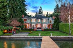 Beautiful waterfront living and lifestyle #realestate #backyard #yard #design #architecture #luxury #home