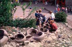 Photo: Frode Svane. Schoolyard. Hovseter. Rudolph Steiner school. Oslo.