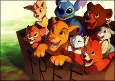 disney I WANT THEM ALL! Especially Oliver, Simba, and Tod :)