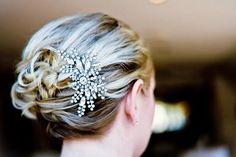 FANCY, Bridal Hair Comb, Vintage Style Wedding Hair Comb, Crystal Hair Comb, Wedding Hair Accessories, Art Deco Rhinestone Bridal Hair Comb