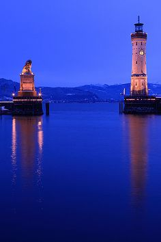 Lindau. Bavarian town and an island on the eastern side of Lake Constance, the Bodensee - Germany