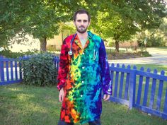 Hey, I found this really awesome Etsy listing at https://www.etsy.com/listing/163906026/tie-dye-dr-lab-coat-size-36-dark-rainbow