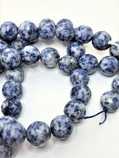 12mm Sodalite Round Gemstone Beads Faceted Natural Stone Large