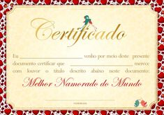 Uau! Veja o que temos para Clique e Imprima - Certificado Dia dos Namorados Presents For Boyfriend, Boyfriend Gifts, Simple Gifts, Love Gifts, Peace Love And Understanding, Flirting Messages, Boyfriend Anniversary Gifts, Tropical Party, Flirting Tips For Girls