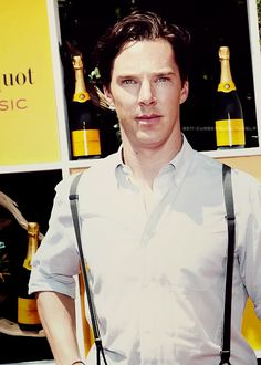 Benedict Cumberbatch in Suspenders (Just putting this out there....If he was married to me...I would never NEVER leave my house. He would be my full time occupation! Him and our house full of Children we wouldn't know what to do with. LOLOL!)