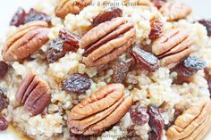 Clean Eating Breakfast – Organic 8-Grain Cereal with Real Maple Syrup, Walnuts and Raisins