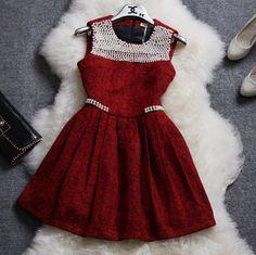 Slim sleeveless vest dress #ER111910