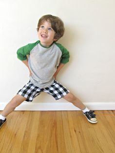 Cute, easy boys outfit to sew