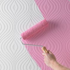 Paintable Curvy Wallpaper....maybe for an accent wall?