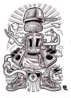 illustration au bic Donald Duck, Disney Characters, Fictional Characters, Darth Vader, Illustration, White People, Illustrations, Fantasy Characters