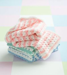 "Free pattern for ""Crochet Stripes Blanket"""