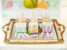 Jillian and Jilleen's Sweet Shoppe Themed Party – Birthday Birthday Candles, Birthday Cake, Debut Ideas, Purple Table, Party Needs, Wonderland Party, Sugar Rush, Host A Party, Rice Krispies