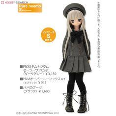 PNXS Gymnasium Sailor Onepiece Set (Dark Gray) (Fashion Doll) Other picture1