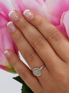 Marleylilly.com - Monogrammed Sterling Silver Audrey Ring $34.99 #ring #ringbling #bling #monogram #love