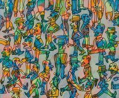 ANTONIO SEGUI (NÉ EN 1934) Tecnicolor, 2005 Acrylique et feutre sur toile, signée, titrée et datée au dos 60 x 73 cm - 23 5/8 x 28 3/4 in. Acrylic and marker on canvas, signed, titled and dated on the… - Aguttes - 08/04/2018