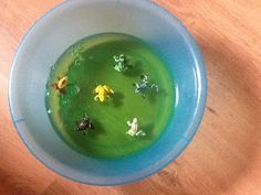 This week I decided it was time to play with jelly again. Jelly is a super sensory material which is suitable for all ages. This time. Messy Play, Sensory Play, Frogs, Jelly, Toddlers, Babies, Young Children, Babys, Marmalade