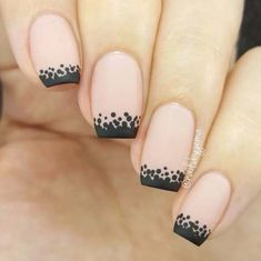 Easy Nail Art Designs - Edgy Dotted Tip Nails - Step By Step, Simple Tutorials For Beginners For Summer, Fall, Spring, and Winter. Ideas For Nailart For Kids, For Toes, DIY, And Classy Ring Finger Ideas With Glitter. Also Some Great Ideas For Flowers, Paint, Stripes, And Black Nails - https://thegoddess.com/easy-nail-art-design