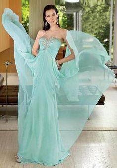 Sweetheart Chiffon Floor Length Empire Sheath/ Column Dress For Prom - Lunadress.co.uk