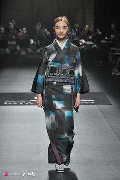 140319-7672 - Autumn/Winter 2014 Collection of Japanese fashion brand JOTARO SAITO on March 19, 2014, in Tokyo.
