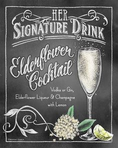 Signature Drink Signs Chalkboard style Prints for by RockinChalk