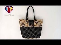 Bolsa sacola em tecidos Reyna - Maria Adna Ateliê - Cursos/aulas de bolsas em tecidos passo a passo - YouTube