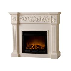 Curtis Electric Fireplace in Ivory. Stylish with a slightly weathered finish.  Great heat output! Fab addition to my master bedroom.