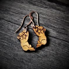 RESERVED Cute baby boxer earrings   gypsy by ArtoftheMoment