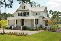 The Camelia - Traditional - Exterior - Charleston - Shoreline Construction and Development Steel Building Homes, Metal Building Kits, Building A House, Building Ideas, Farmhouse Exterior Colors, Exterior Paint Colors, Exterior Design, Steel Frame House, Steel House