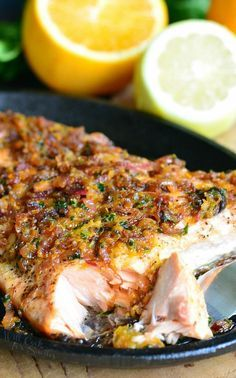 Grilled Salmon with Brown Butter Citrus Sauce - Will Cook For Smiles