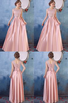 Pink Prom Dresses Long, 2018 Formal Dresses Aline, Scoop Neck Party Dresses Satin Tulle, Lace Evening Dresses Cheap Modest inch ( height is from your top head to your Prom Dresses Long Pink, Cheap Evening Dresses, Cheap Dresses, Evening Gowns, Strapless Dress Formal, Bridesmaid Dresses, Hijab Prom Dress, Dresses Dresses, Event Dresses