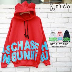 Buy 'rico – Ear-Accent Hooded Printed Pullover' with Free International Shipping at YesStyle.com. Browse and shop for thousands of Asian fashion items from Taiwan and more!