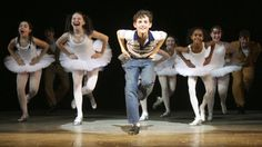 Trent Kowalik and company in the Broadway production of Billy Elliot.