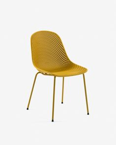Konna chair in mustard corduroy   Kave Home Yellow Office, Black Office Chair, Modern Swivel Chair, Swivel Office Chair, Outdoor Plastic Chairs, Cool Desk Chairs, Luxury Office Chairs, Structure Metal, Swinging Chair