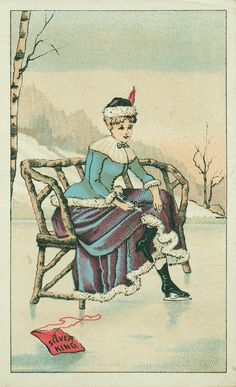 Trade card for Silver King Ice Skates, The Dodge Skate Company, Providence, Rhode Island, undated | Historic New England