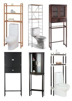 One of the challenges of a small bathroom is where to stock all the essentials — extra toilet paper, beauty items and the like. An over the toilet storage tower or etagere is a great solution for cramped bathrooms. The space above the toilet is just sitting there unused anyway – why not make use of it?
