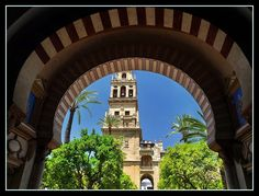 Cordoba~Arch and Minaret (Bell Tower) by vjmite Andorra, Spain And Portugal, Andalucia, Wonderful Places, Wander, Places To Go, Arch, Tower, Europe