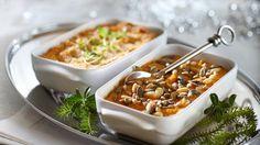 Helppo bataattilaatikko Macaroni And Cheese, Panna Cotta, Good Food, Food And Drink, Pudding, Vegetarian, Dinner, Eat, Ethnic Recipes