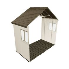 Lifetime Storage Building - 6426 Outdoor Shed Extension Kit with 2 Windows