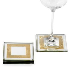 Gold Leaf Mirror Coaster - Set of 4 from Z Gallerie