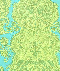 Amy Butler Sandlewood Turquoise Fabric - $8.95 | onlinefabricstore.net